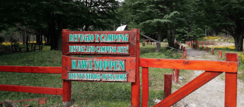 Camping Kawi Yoppen en Ushuaia Tierra del Fuego Argentina