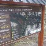 Cartel Sendero Fin Del Mundo Ushuaia Camping Tierra Fuego